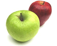 Picture of green and red apples